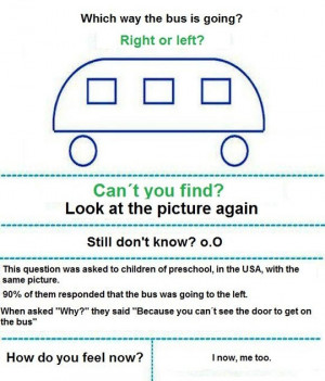 TEST: Which Way Is The Bus Going? Right Or Left?