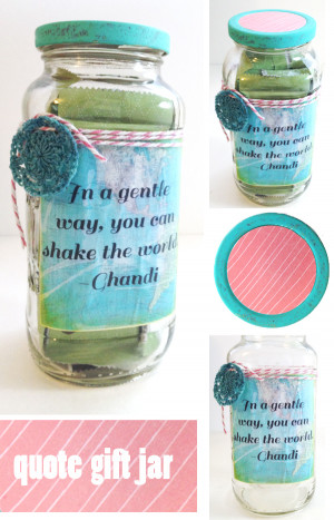 ... Mod Podge your label prior to sticking it on the jar (avoids bubbles