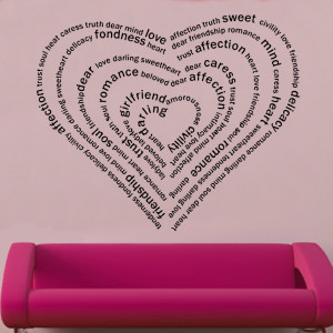 Wall Decal Sticker Quote...