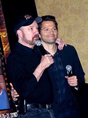 Supernatural Jim Beaver and Misha Collins at LA Con '10