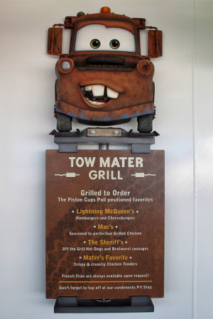 Tow Mater S Grill On Disney Fantasy