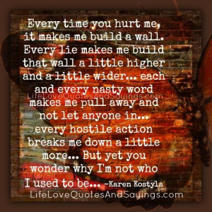 Every Time You Hurt Me..