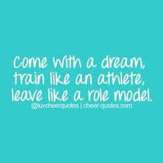 ... like a role model. #cheerquotes #cheerleading #cheer #cheerleader
