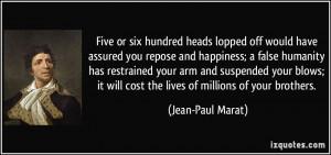 More Jean-Paul Marat Quotes