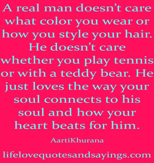 ... doesn t care what color you wear or how you style your hair he doesn t