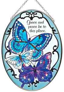 Butterflies w/Bible Verse Suncatcher 5.25x7IN