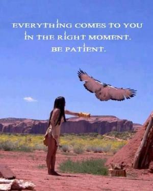 Trust - Be Patient.
