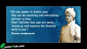 All The Power Is Within Quote by Vivekananda @ Quotespick.com