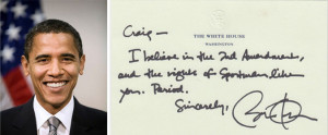 ... Amendment. The writer, a sportsman and conservationist, asks of Obama