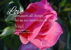 Inspirational Love quotes with rose picture