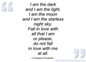am the dark christopher poindexter