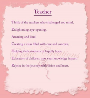 Inspirational poems, quotes, sayings, teacher
