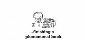 Happiness is, finishing a phenomenal book.