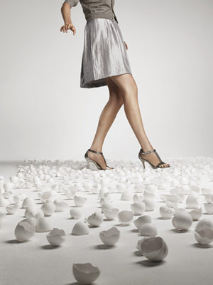 Walking on egg shells! Has anyone ever told you, that's how they feel ...