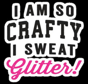 portfolio i am so crafty i sweat glitter black and pink ink women ...