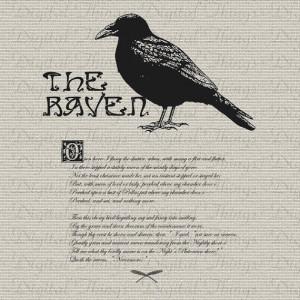 Halloween Edgar Allan Poe The Raven Bird Poem Wall Decor Art Printable ...