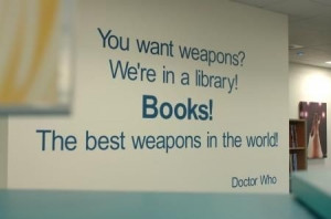 Awesome wall quote for a library!