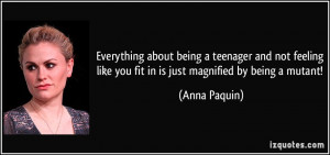 Everything about being a teenager and not feeling like you fit in is ...
