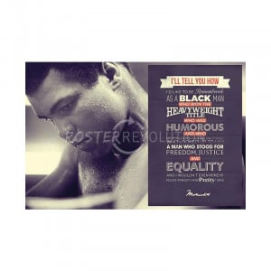 Muhammad Ali Quote Remembered Sports Poster Print - 36x24