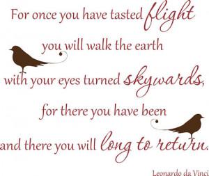 Leonardo Da Vinci Flight Quote
