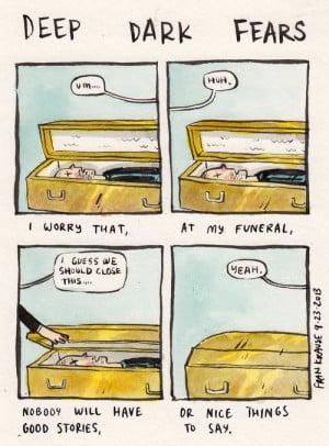 ... speech paranoia funeral stories web comics deep dark fears Fran Krause