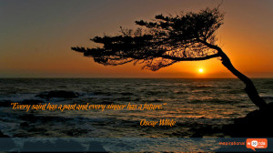 Inspirational Wallpaper Quote by Oscar Wilde