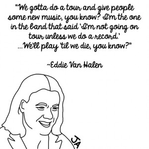 Eddie Van Halen Contemplates Fame, In Illustrated Form