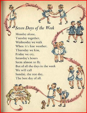 ... ENGLISH RHYMES - SEVEN DAYS OF THE WEEK - KIDS SPECIAL RHYMES