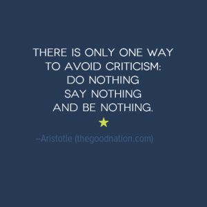 aristotle quotes criticism do nothing say nothing be nothing ...