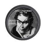 Arthur Schopenhauer Truth Wall Clock