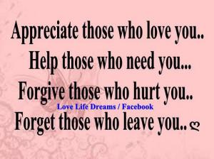 Appreciate Those Who