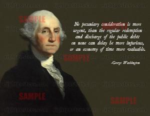 George Washington Public Debt Poster