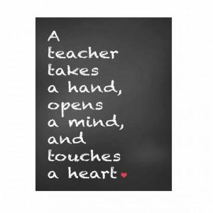 gift for teachers teachers gift chalkboard print teacher quotes ...