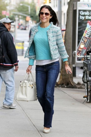 on the pavement in New York City, reality star Bethenny Frankel ...