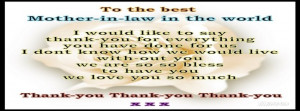 Daughter In Law Quotes For Facebook Mother in law thanks facebook
