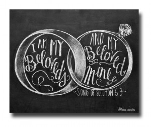 Wedding Sign, I Am My Beloveds, Song of Solomon 6:3, Wedding Quote ...