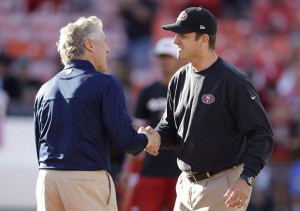 Jim Harbaugh and Pete Carroll don't agree on much. But they both are ...