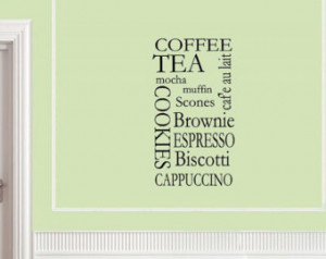 words quotes and sayings #0161 Coffee tea mocha muffin cookies brownie ...