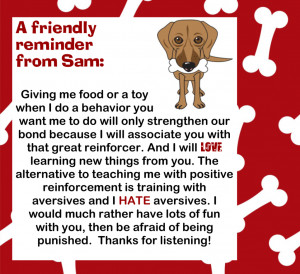 Note On Using Positive Reinforcement In Dog Training