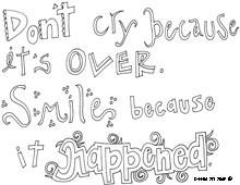 Dr. Seuss Quotes Coloring Pages