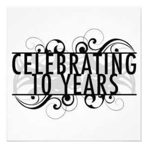 Celebrating 10 Years Of Marriage Custom Announcements