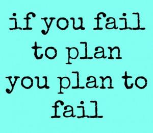 Plan Ahead!