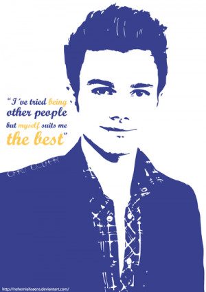 Chris Colfer's quote by NehemiahSaens