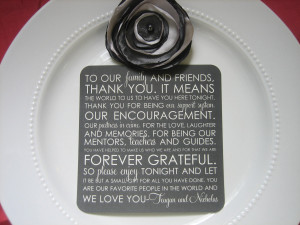 Thank You Quotes For Wedding Reception
