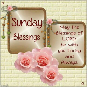 Sunday Holiday Blessings