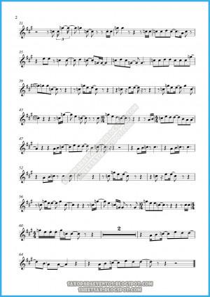 Alto Sax Sheet Music Picture