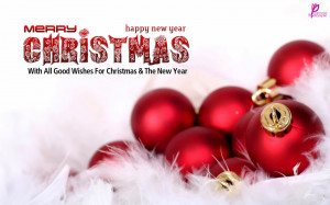 ... Balls Christmas Wishes and Greeting Quote Wallpaper Wide 2560x1600