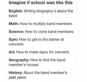 1d, 5sos, bands, fifth harmony, little mix, quotes, school, the vamps