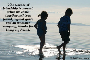 Thanks For Being A Good Friend Quotes A true friend, a great guide