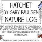 research project to go along with the book, Hatchet, by Gary Paulsen ...